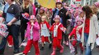 Children taking part in the parade