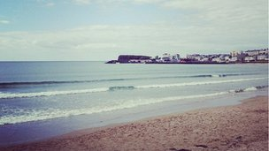 The calm before the storm at Portrush beach