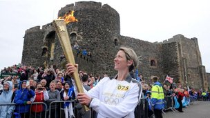 Lisa Hickson at Carrickfergus Castle