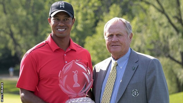Tiger Woods and Jack Nicklaus