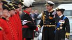 Princess Anne, Princess Royal and Vice Admiral Sir Timothy Laurence arrive at Chelsea Pier 