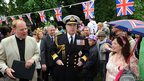 "Prince Andrew, Duke of York visits a ""Big Lunch"" street party at All Saints Church in Fulham"