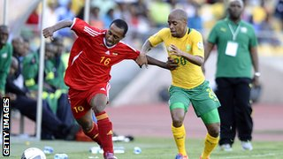 A disappointing South Africa were held by an impressive Ethiopia in Rustenburg