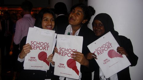 School Reporters at Royal Commonwealth Society party