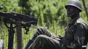 Congolese soldier in eastern town of Bunagana. 22 May 2012