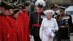 Queen Elizabeth II and Prince Philip, Duke of Edinburgh arrive at Chelsea Pier