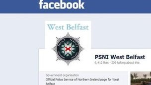 Facebook PSNI