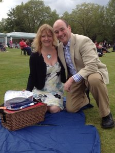 Paula and Terry McLaughlin, from Hampshire