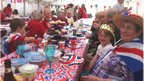 Partygoers of all ages joined in the Diamond Jubilee celebrations at Five Roads, Llanelli
