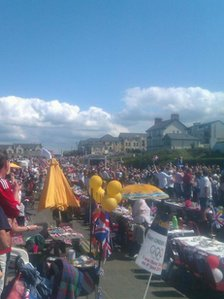 There are street party celebrations in Castlerock