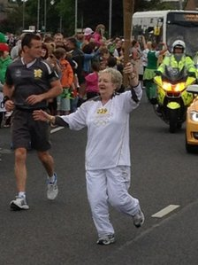 Anne Murray-Cavanagh carries the torch