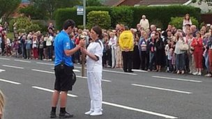 Derry&#039;s first torchbearer Karlan McDermott