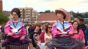 Some well dressed spectators in Derry