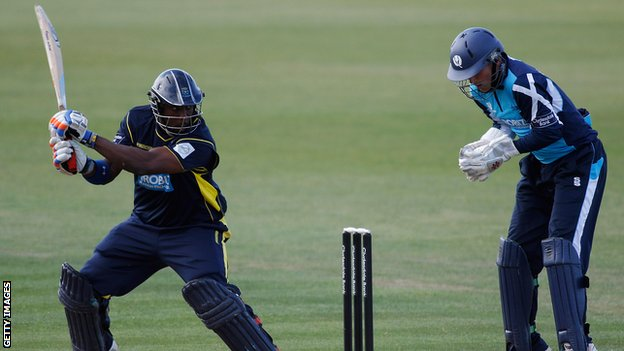 Michael Carberry on his way to a score of 148 not out