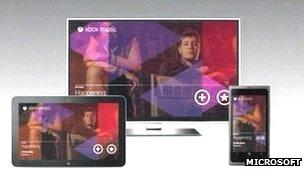 Xbox Music presentation screenshot