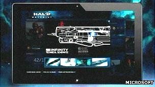 Halo 4 SmartGlass tablet screenshot