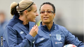 Kelly Smith & Hope Powell (right)