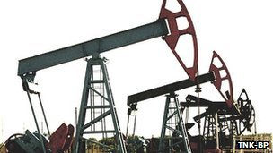 Oilfield pumps extracting oil