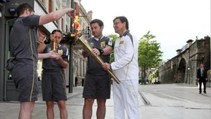 Torchbearer Gavin Bate is poised to do the first leg