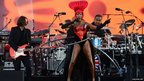 Jamaican singer, actress and model Grace Jones performs