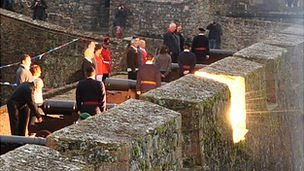 21-gun salute fired from Guernsey's Castle Cornet for the Diamond Jubilee