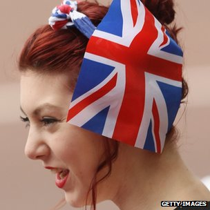 Woman wearing the union flag