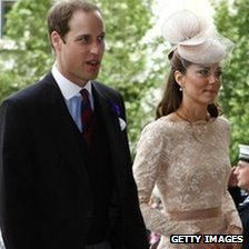 The Duke and Duchess of Cambridge arriving at St Paul&#039;s Cathedral