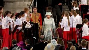 Queen in Westminster Hall