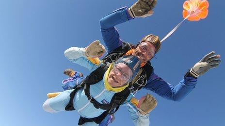 Daphne Bernard's skydive