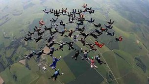 Jubilee skydive, photo takjen on June 4th at 6pm