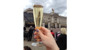 Champagne at the Palace.