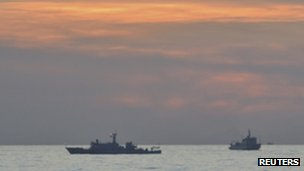 Two Chinese surveillance ships  in the Scarborough Shoal