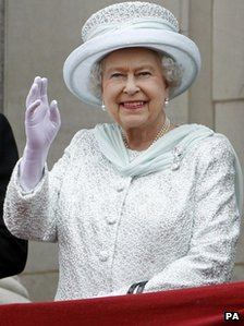 The crowning moment of the day came when the Queen waved her appreciation from the balcony of Buckingham Palace