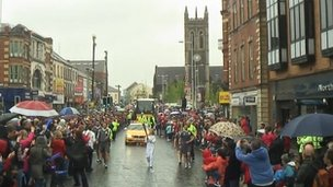 Huge crowds on the streets of Portadown