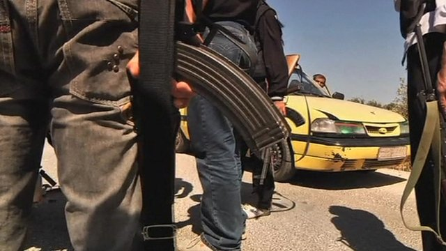 Armed men in Syria