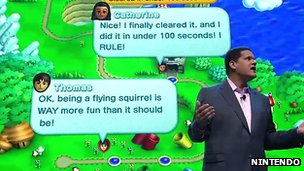 Nintendo comments demonstration