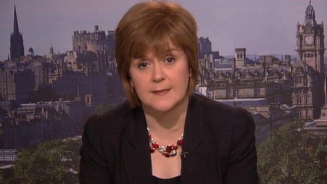 Health Secretary Nicola Sturgeon