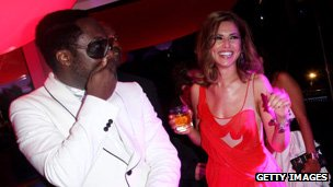 Cheryl and will.i.am at the Cannes Film Festival