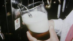 Pouring a pint of beer