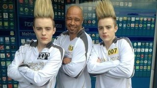 Jedward with Paul McGrath