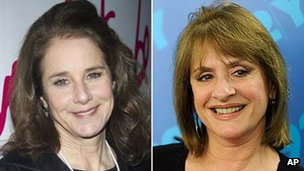 Debra Winger and Patti LuPone