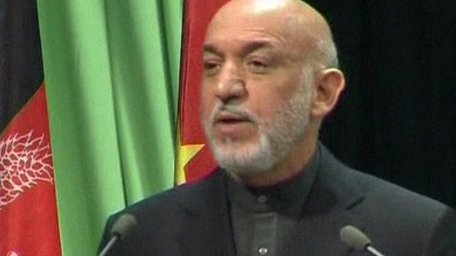 Afghan leader Hamid Karzai