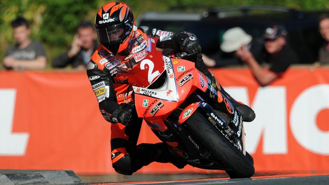 Ryan Farquhar in action on the Isle of Man