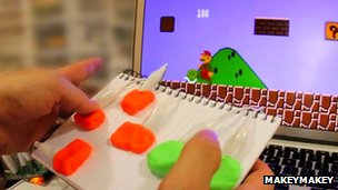 Playdough used as a game controller