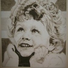 Portrait of The Queen as a child