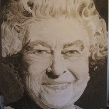 Soil portrait of The Queen