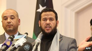 Senior military figure Abdul Hakim Belhadj [R] is running for a seat in Tripoli