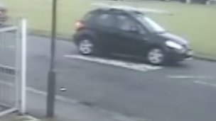 Police want to trace the driver of a car carrying what appear to be lengths of wood on the roof rack