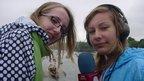 School Reporters reporting on bridge