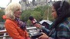 Aisha interviewing Sue Ryland